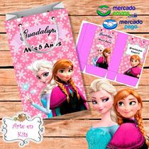 Bolsitas Golosineras Frozen Nena Rosa Personalizadas