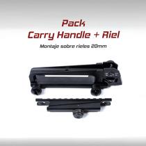 Pack Carry Handle Asa Transporte Militar Ar15 M4 M16 Ak47