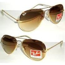 Óculos De Sol Modelo Ray Ban Aviador 3025, Produto 1ª Linha