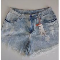 Roupas Femininas / Short Jeans Handara Hot Pants Detonado