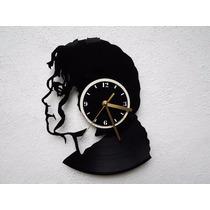 Reloj De Pared Disco De Vinilo Vinil Acetato Michael Jackson