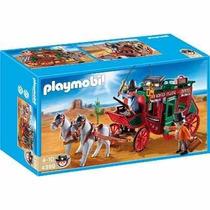 4399 Playmobil Faroeste Cocheiro Com Carruagem Pront Entrega