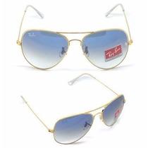 Oculos Ray Ban Aviador Original Azul Degradê Feminino Masc