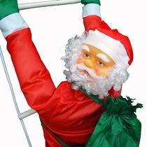 Papai Noel Enfeite Natal Natalino Na Escada Escalador