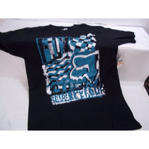 Franela Fox Built Up Ss Tee Negra Varias Tallas
