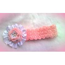 Cintillos-moños-lazos Tejidos A Crochet Bebes-niñas