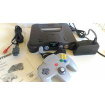 Nintendo 64 Zero Completo Na Caixa Com 7 Jogos Originais