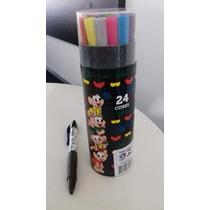Kit Caneta Hidrocolor Turma Monica 24 Cores+ Brinde 1caneta