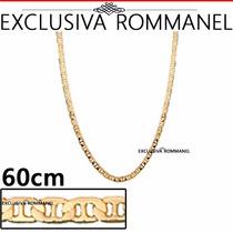 Corrente Elo Longo Diamantado 60c Banho Ouro 530614 Rommanel