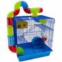 Gaiola 3 Andares Para Hamster Labirinto Com Tubos Promoção