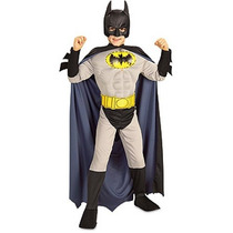 Fibra Óptica Muscle Chest Batman Costume For Kids (tamaño 4