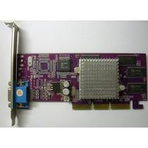Placa De Video Agp 8x Geforce2 Mx400 64mb Svga (usado)