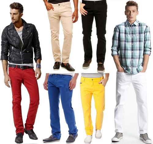 Resultado de imagem para calça colorida masculina como usar