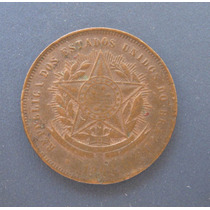 B811: Bela Moeda 20 Réis Bronze 1908 - Escassa