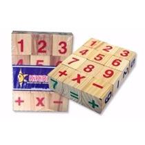Juegos Didacticos De Madera Tacos Cubos Letras Y Numeros