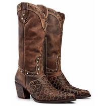 Bota Texana Escamada Country Feminina Montaria Capelli Boots