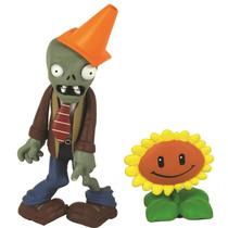 Plantas Vs Zombies Coleccionables Conehead Y Sunflower