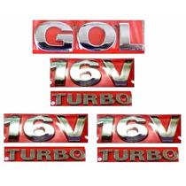 Emblemas Gol G3 + 16v Turbo - Geração 3 - Modelo Original