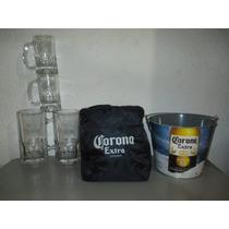 Set De Corona Cubeta Hielera Y Tarros