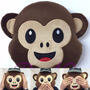 Almofada Emoji/emoticon Macaco Whatsapp Macaquinho