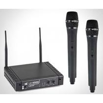 Microfone Tsi Ud1000 Uhf Sem Fio Duplo;00279 Musical Sp
