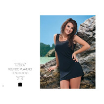 Malla Vestido Playero Cocot 12557 T2 (40-42) Negro