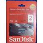 Memory Stick Pro Duo Sandisk 2gb Ideal Para Psp