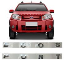 Emblema Letreiro Capô Ecosport Cromado Ford Frontal Capo