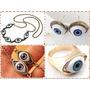 Zarcillos Anillos Collar De Ojo Protección Amuleto Accesorio