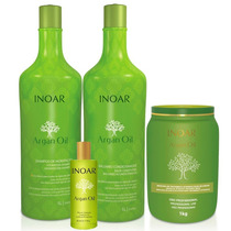 Inoar Kit Argan Oil 4 Produtos Duo 1 L Máscara 1kg Oleo 60ml