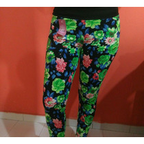 Leggins Licras Mono Unicolores Estampados Damas Mayor Detal