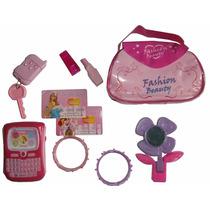 Set Fashion Niña Juguete Telefono Alarma Carro Espejo 10 Pza