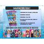 Invitacion Digital Moderna Tipo Tickets Fiestas Infantiles
