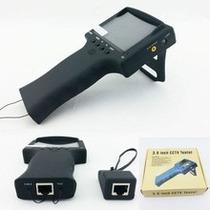 Testador De Câmeras Cftv Monitor Colorido Bateria + Rj45