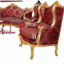 Sofá Antigo Clássico Luis Xv Modelo Europeu Madeira Entalhes