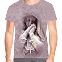 Camiseta Camisa Santa Maria 3d Religiosa Baby Look Jesus