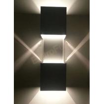 Arandela Parede Externa Efeito Luminoso Cor Aço Escovado