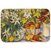 Frutas, Flores Y Verduras De La Cocina O El Baño Mat 24x36