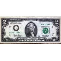 Billete 2 Dolares Usa 2003 Minneapolis Firma: Marin-snow