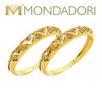 Par De Aparadores Em Ouro 18k Com Diamantes - Promoção