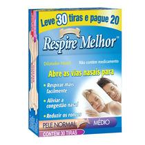 Respire Melhor Dilatador Nasal Pele Normal Tam M 30tiras
