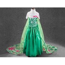 Disfraz Frozen Princesa Elsa Frozen Fever Vestido Para Niña
