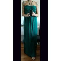 Vestido Cris Barros Longo Verde Floresta