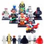 Coleção Mini Star Wars 8 Bonecos Com Darth Vader + Nave