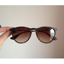 Óculos De Sol Ray-ban Erika Rb4171 Marrom Tartaruga Original