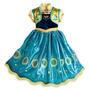 Disfraz Vestido Anna Frozen Fever Original Disney Store