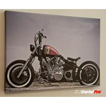 Cuadro En Lienzo Canvas 380 Grs. - Vintage Harley 50x70