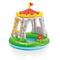 Pileta Pelotero Inflable Para Niños Intex Castillo Royal