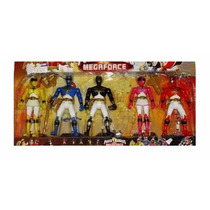 Juguete Set De 5 Figuras De Power Rangers Muñecos 17cm