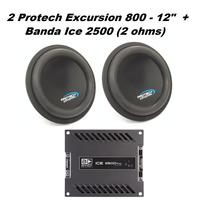 2 Protech Excursion 800wrms 12 + Banda Ice 2500wrms